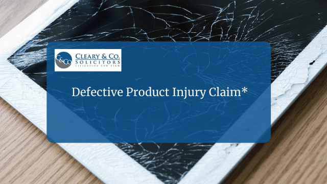 defective product injury claim