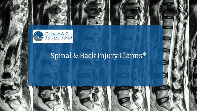 Spinal and Back Injury Claims