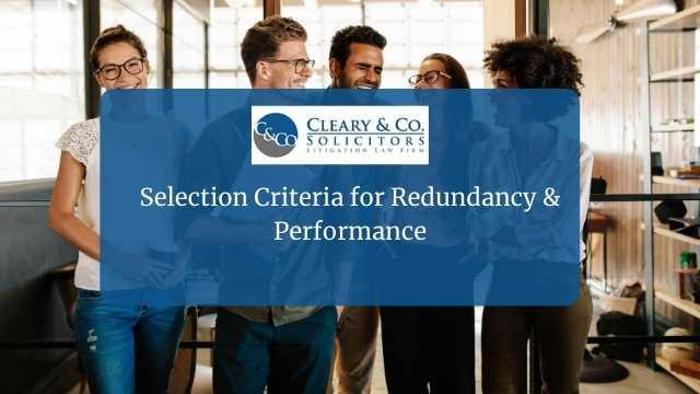 redundancy selection process