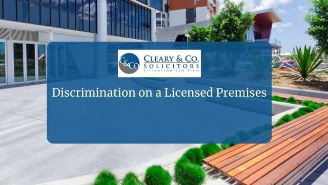 licensed premises discrimination