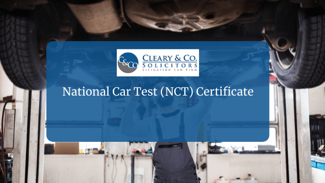 National Car Test NCT Certificate